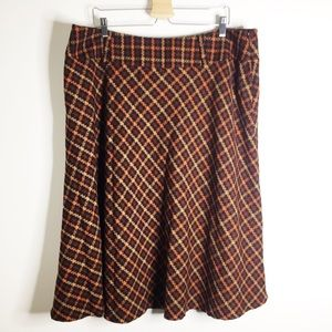🔴Cato plaid tweed A line skirt